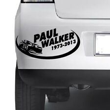 RIP PAUL WALKER  Car Window Bumper Wall JDM VW Novelty Vinyl Decal Sticker