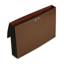 Smead 3 1/2 Inch Expansion Wallets with Tyvek Legal, Leather-Like Redrope Each