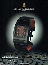 PUBLICITE ADVERTISING 106  2014  De Grisogono montre Expendables 3