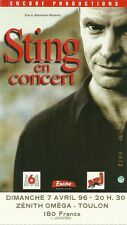 RARE / TICKET CONCERT - STING / THE POLICE LIVE AT TOULON 1996 / COMME NEUF