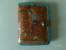 CUTTING HORSE WESTERN HAND CARVED RODEO LADIES PURSE AW LEATHER GOODS