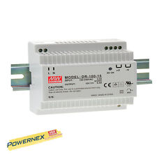 MEAN WELL [PowerNex] DR-100-15 15V 6.5A Din Rail Power Supply LED Driver 97.5W