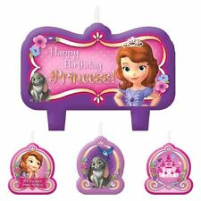 Sofia Sophia the First Birthday Princess Party 4 pc Candle Cake Toppers