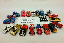 Silicone Tires for Tyco Mattel HO slot car 8 pair lot .448 Diam HPX2 440X2 440.