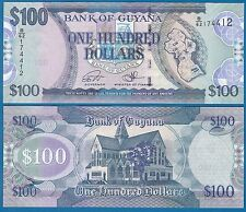 Guyana 100 Dollars P 36 New Signature 2016 UNC Low Shipping! Combine FREE!