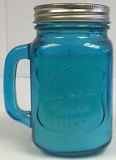 Deluxe Mason Jar Scented Candle - Blue