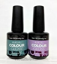 Artistic-Colour Gloss Soak Off Nail Gel- Base & Top DUO (Bonding & Glossing Gel)