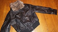 Juniors Size M DOLLHOUSE OUTERWEAR NEW BLACK JACKET COAT Removable Fur nwt
