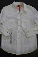 "ROBERT GRAHAM ZEN ""BUDDHA"" WHITE WESTERN STYLE EXCLUSIVE DECORATION SHIRT SZ S"