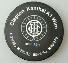 CLAPTON KANTHAL WIRE 28x2 / 32 Gauge 15 Ft Coil Building Sub Ohm Mechanical Mod