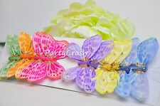 12 3D Colorful Artificial Butterflies Crafts Wedding Party Floral Decoration 3""