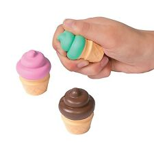 (12) Ice Cream Cone Stress Balls for Kids Party Favors