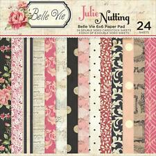 "JULIE NUTTING Paper Pad 6""x6"" ""Belle Vie"" -  Day Planner / Mixed Media  NEW!"