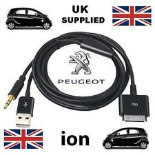 For Peugeot iON 3GS 4 4s iPhone iPod 3.5mm USB & Aux Cable replacement