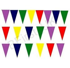 100m Multi-Coloured Bunting PVC 200 Flags Banner Outdoor Garden Party Event Deco