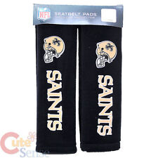 New Orleans Saints Seat Belt Cover NFL 2pc Car Auto Shoulder Pad