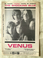 SPARTITO MUSICALE VENUS THE SHOCKING BLUE I DALTON VAN LEEUWEN POP ROCK 1969