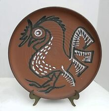 """Vtg RAYMOND GALLUCCI Studio Pottery 15"""" ROOSTER CHARGER Allentown Pa Baum School"""