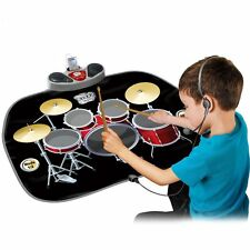 KIDS ELECTRONIC DRUM KIT STICK TOUCH PLAYMAT MUSICAL TOY SOUND MUSIC MP3
