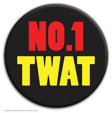 """Brainbox Candy """"No 1 Twat"""" badge funny stag party do cheap gift joke rude"""