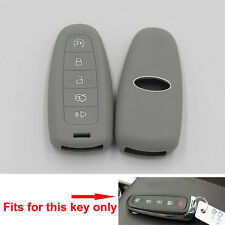 Smart Silicone Key Fob Shell Cover Case For MKS Escape MKT Edge Explorer  Gray