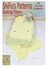 KNITTING PATTERN for BLANKET OWL CABLED BLANKET AFGHAN #246 by shifio patterns