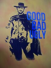 Good Bad Ugly 28x16 oil painting NOT print Framing available Eastwood, western