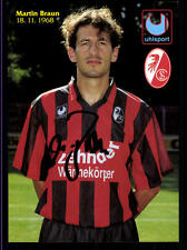 Martin Braun Autogrammkarte SC Freiburg 1994/95 Uhlsport Original Sign +34959