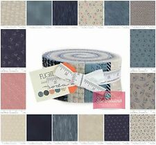 """Moda Jelly Roll, 42 of 2.5"""" x 42"""""""" Fabric strips 'Flight' Collection 100% Cotton"""