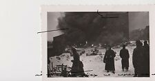 Old Russia USSR Photo WWII Burning building of Smolensk СССР Война Смоленск