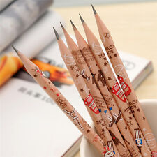 12pcs Cute Pencil Bon Voyage HB School Novelty Writing Wooden Pencil For Kids sk