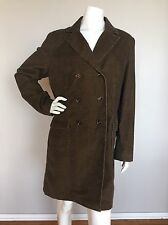 PERUVIAN CONNECTION Sz 18 Brown Black Corduroy Peacoat