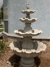 """CONCRETE CEMENT FOUR 4 TIER ITALIAN STYLE 87"""" TALL WATER FOUNTAIN PUMP NOT INCL"""