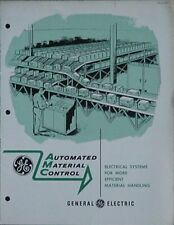 1960 GENERAL ELECTRIC AUTOMATED MATERIAL CONTROL BOOKLET