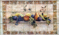 Accent Fruits Grape Mural Ceramic Backsplash Tile #148