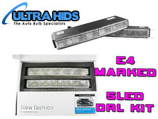 WHITE 5 LED DRL Daytime Running Light Kit HIGH QUALITY E4 UK ROAD LEGAL
