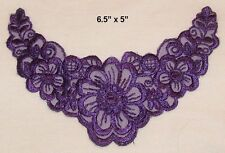 Lot of 4 Steam Punk Purple Bodice Appliques - EMB-C-83 NEW - FREE SHIPPING