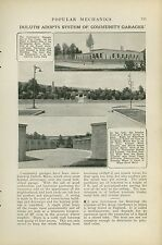 1921 Magazine Article Community Garages Built In Duluth Minnesota Cars Autos