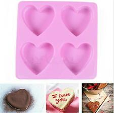Heart Silicone Fondant Mold Cake Decorating Chocolate Baking Soap Mould Tool Pop