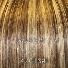 "18"" Weft Clip in Remy Human Hair Extensions All Colour"