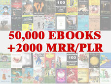 50,000 eBooks | Zip file | Pdf + word Format | With 2000+ Master Resell Rights