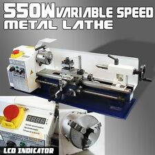 7 x 14 LCD 550W Mini Precision Metal Lathe 2500RPM Variable Speed Mini Lathe 3/4