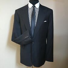 MR. NED BESPOKE GRAY PEAKED LAPEL  SPORT COAT SCABAL 100'S APPROX 46 EXTRA LONG