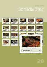 Austria 2017   Turtles tortuga schildkrote turtue special sheetlet of 20  mnh us