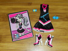 MONSTER HIGH Frankie Stein Fearleading Outfit Lot EUC