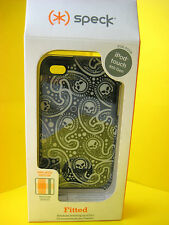 SPECK FITTED CASE FOR IPOD TOUCH 4TH GEN BLACK/SKULL PATTERN