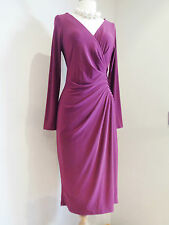 D BY DAMSEL IN A DRESS FUCHSIA  JERSEY RUCHED SHIFT DRESS SZ UK 10