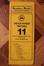 SP-SOUTHERN PACIFIC OREGON DIVISION  EMPLOYEE TIMETABLE  #11  APRIL 26,1981