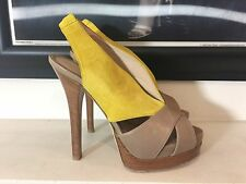 Fendi Platform Sandals Leather And Suede 37.5