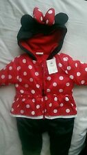 Disney Minnie Mouse baby pram suit snow suit onesie 6-9 months